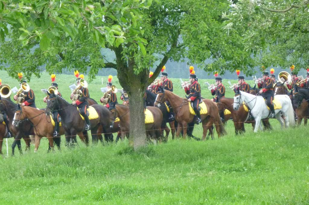 Seeblen near Gunzwil, 2011: the Gunzwil mounted band plays during the procession © Regula Muff, Gunzwil