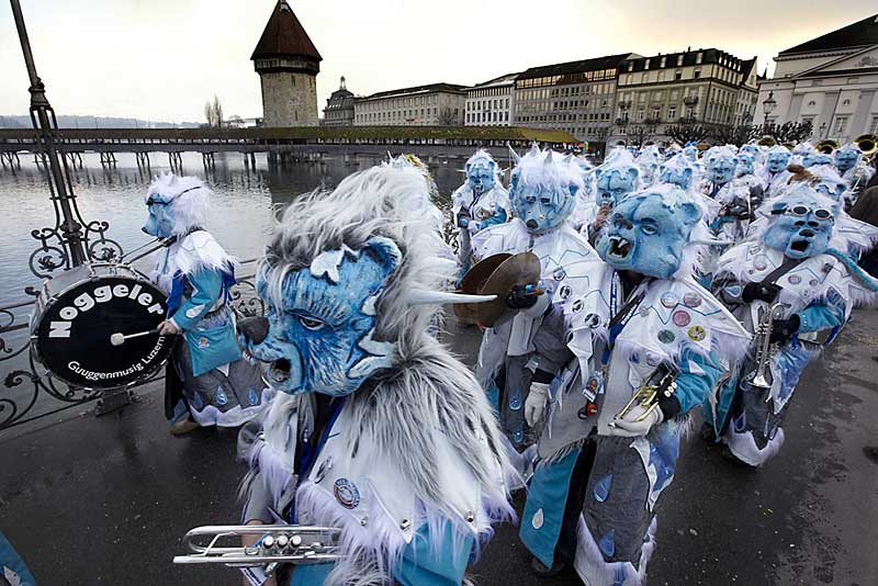 "The ""Noggeler"" carnival band in Lucerne, 2009 © Emanuel Ammon/AURA, Luzern"