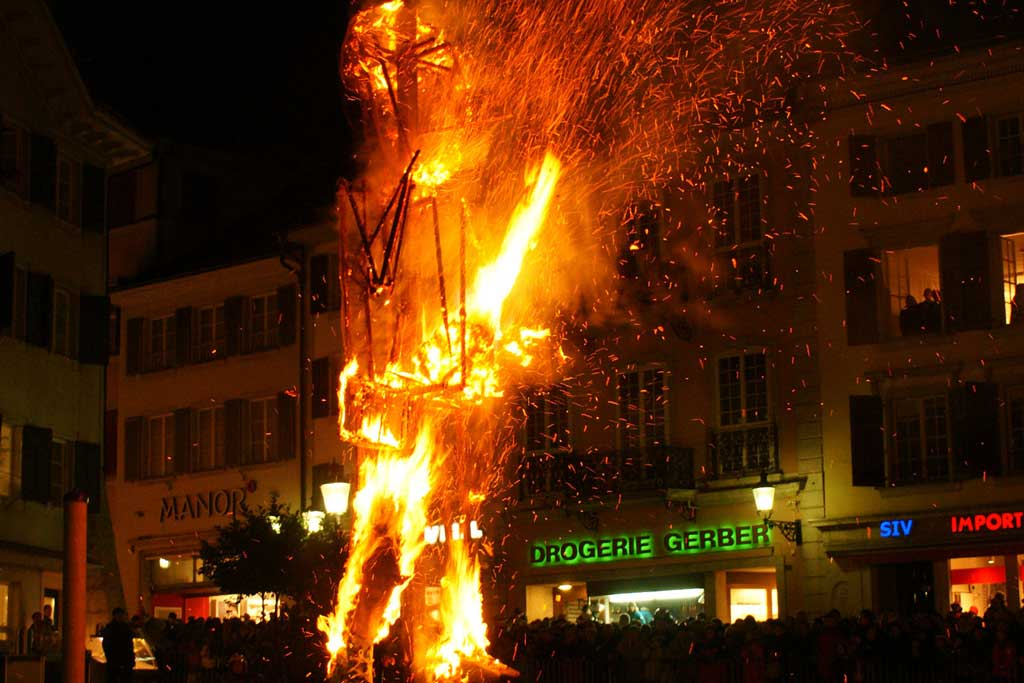 Fasnacht ends on Ash Wednesday with the burning of the Böögg © André Kilchenmann, 2009