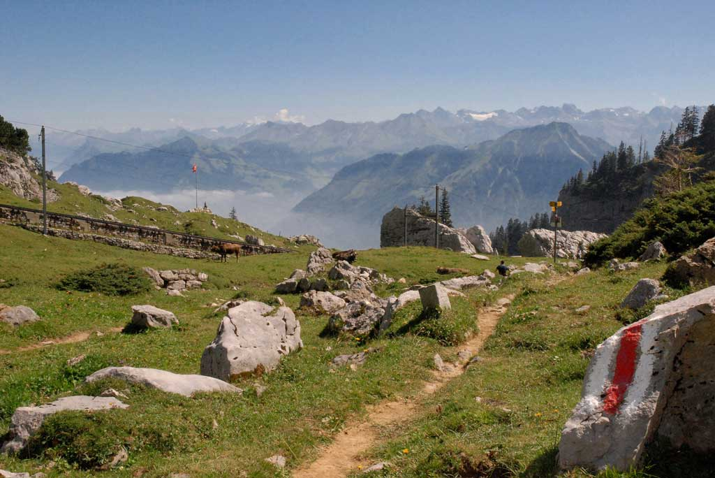 Pilatus, 2008: hiking with a panorama of the mountains. © Vierwaldstättersee Tourismus, Stans